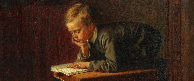 Eastman Johnson, Boy Reading