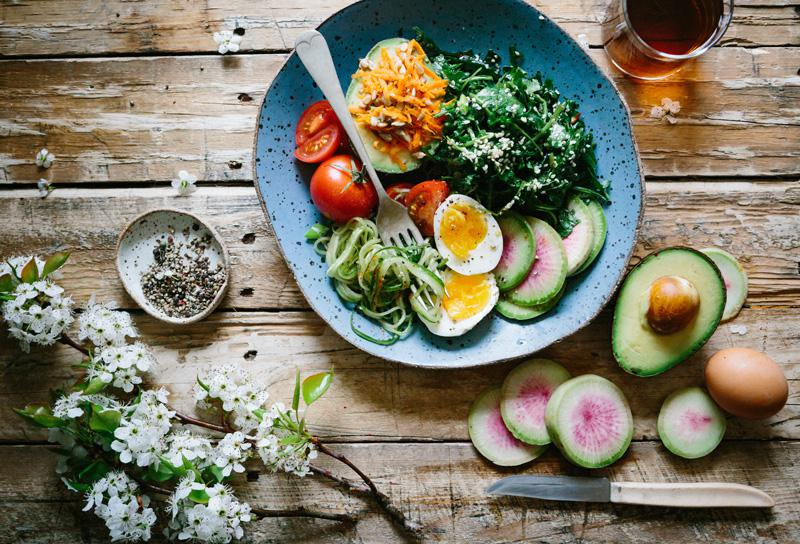 How Nutrition Affects Your Mental Health and Simple Tips for Eating Healthier, by Sophia Smith. Photograph of healthy food by Brooke Lark
