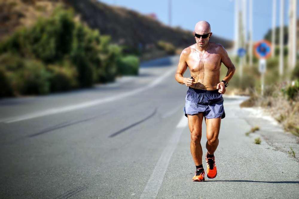 man running on street