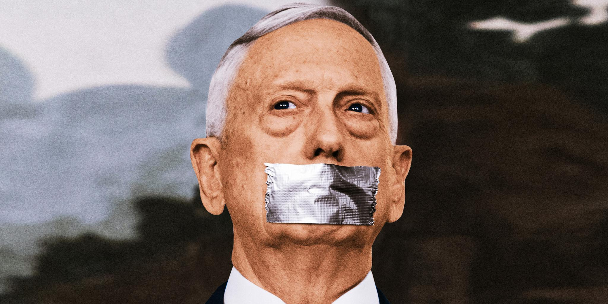 "Duty of silence In recent interviews, Jim Mattis said he would abide by the ""military tradition"" of not commenting on political issues."