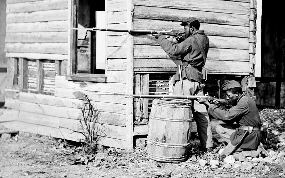 United States Colored Troops soldiers at Dutch Gap, VA