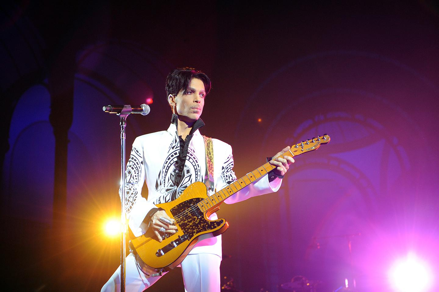 Prince performs on October 11, 2009 at the Grand Palais in Paris. The artist's posthumous album, 'Piano and a Microphone 1983,' is an unusually intimate glimpse of his creative process.