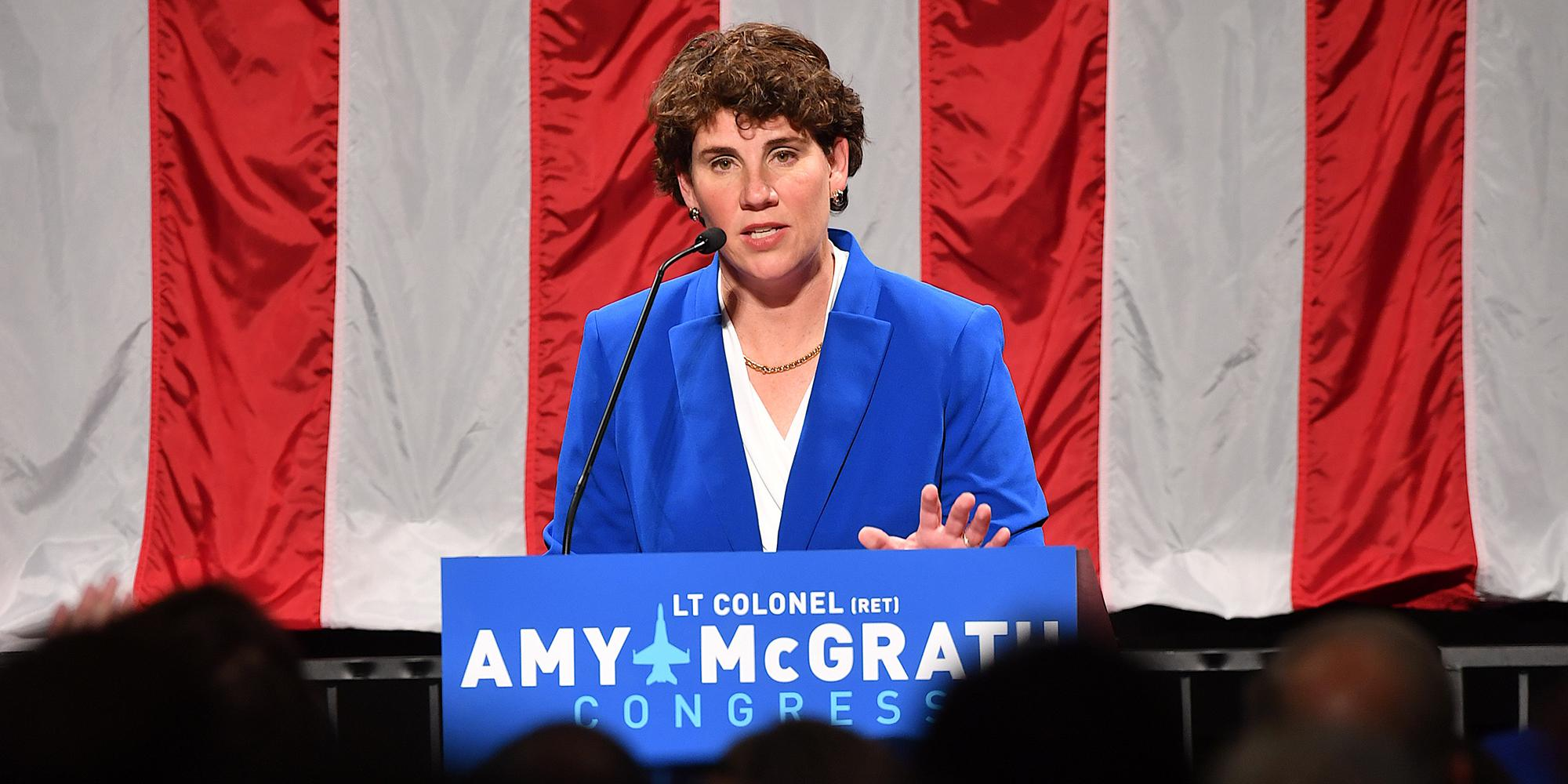 In the wake of a close 2018 election loss, former combat pilot Amy McGrath's campaign has broken fund-raising records.