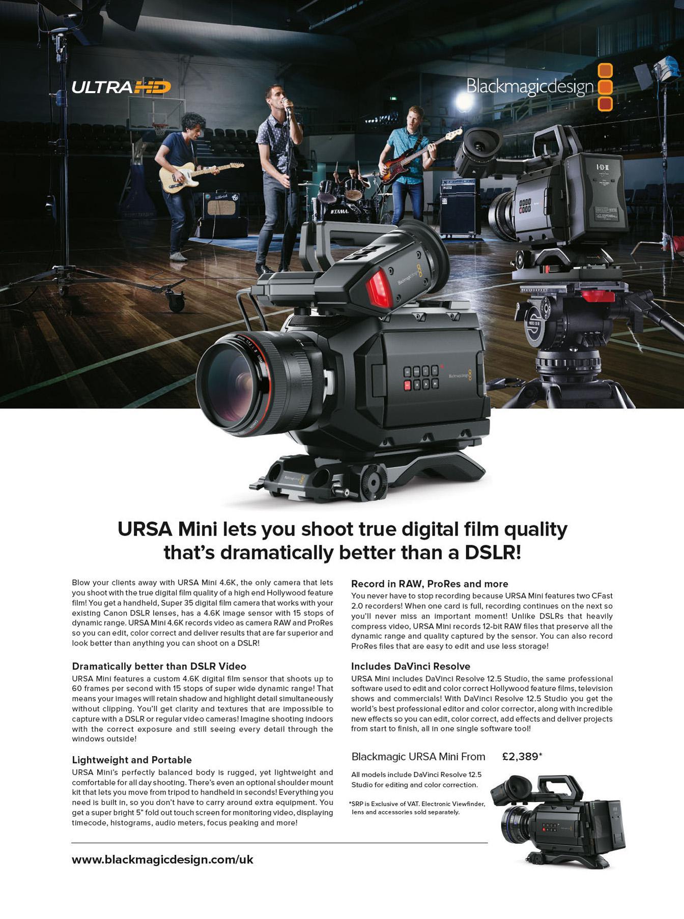 URSA Mini Lets You Shoot True Digital Film Quality That's